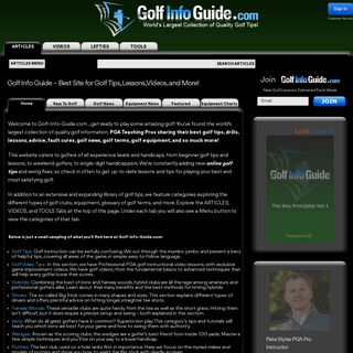 Golf Info Guide - Tips, Lessons, Videos, and much more!