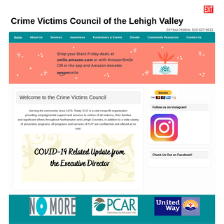 Crime Victims Council of the Lehigh Valley - 24-Hour Hotline- 610-437-6611