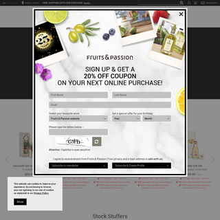 Fruits & Passion - Body Care and Fine Fragrance