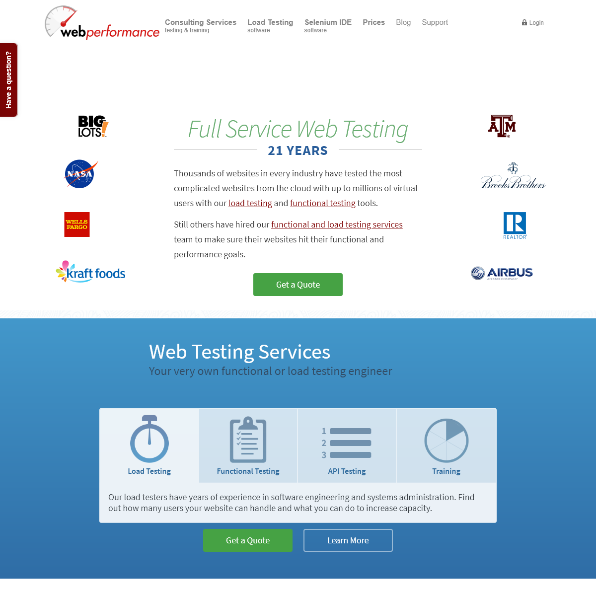 Load Testing Consulting Services & Tools - Web Performance