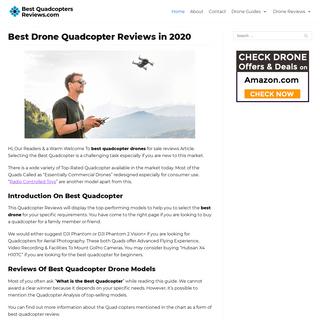 Best Drone - Quadcopter UAV Drones Price Reviews 2020