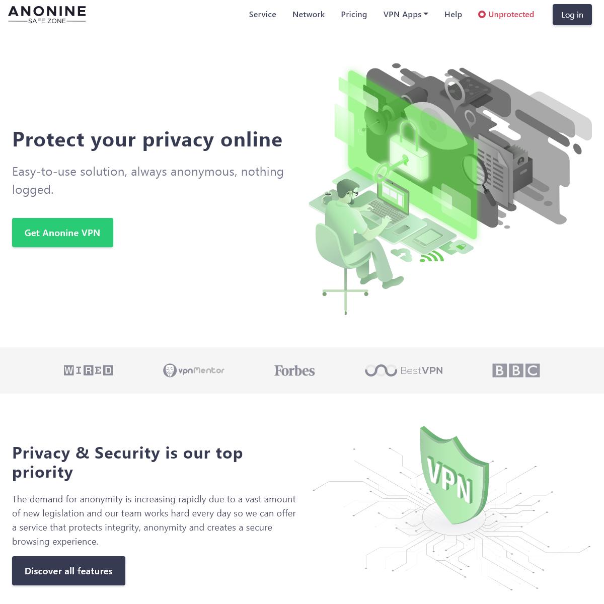 High Speed VPN Provider, No Logging - Anonine VPN