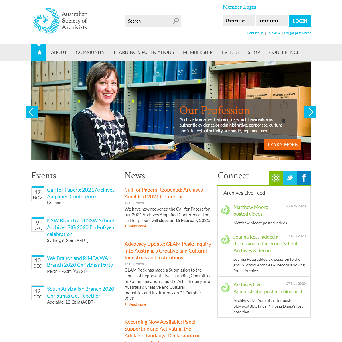 Connect - Australian Society of Archivists Inc.