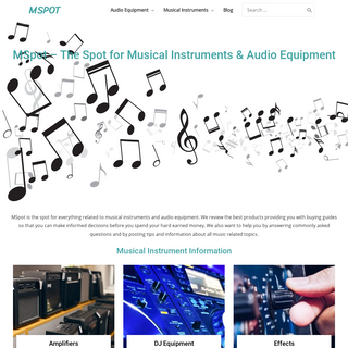 MSpot - The Spot for Musical Instruments & Audio Equipment