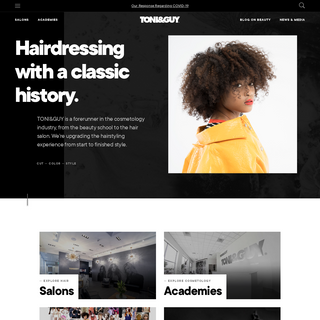 TONI&GUY – Pushing the boundaries of hairdressing academies and salons.