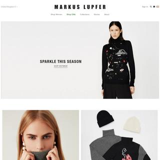 Markus Lupfer - Womenwear Designer - Official Site