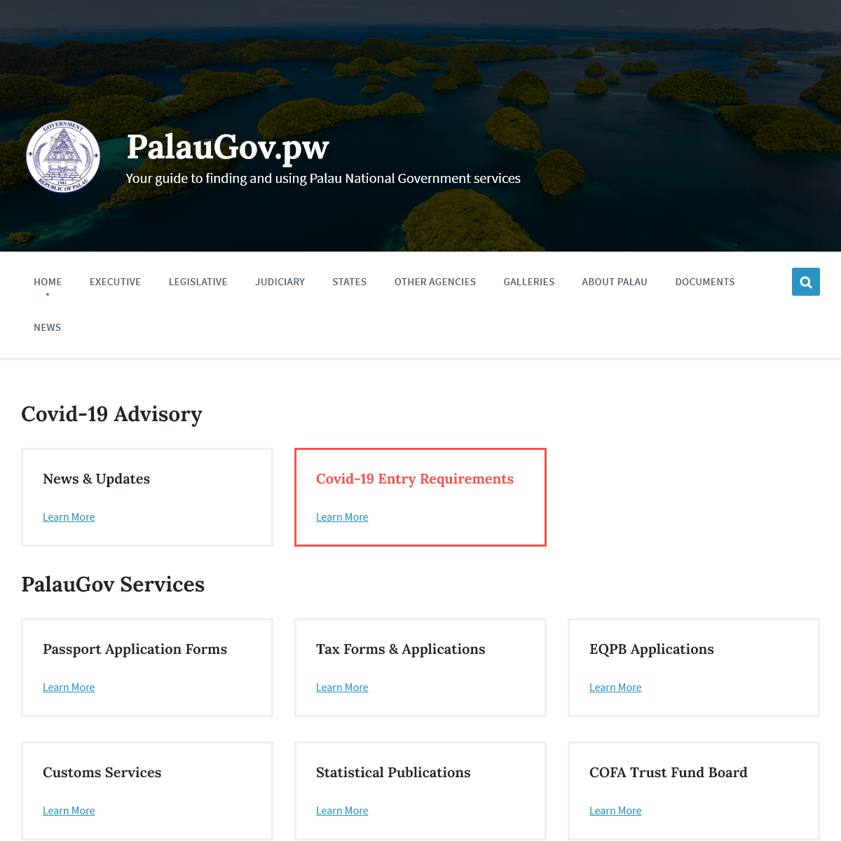 PalauGov.pw – Your guide to finding and using Palau National Government services