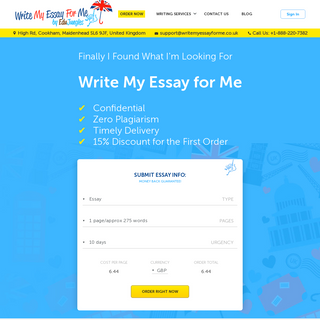 Write My Essay for Me UK, Pay to Do My Essay for Cheap