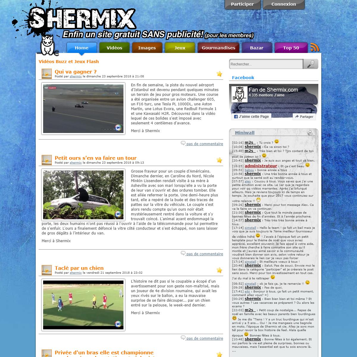 Shermix - Vidéos Buzz et Jeux Flash !