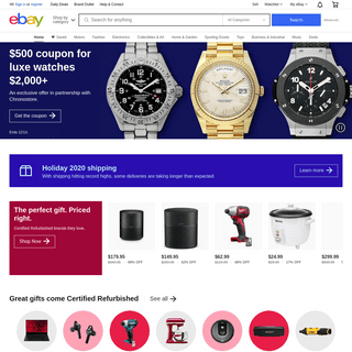 Electronics, Cars, Fashion, Collectibles & More - eBay