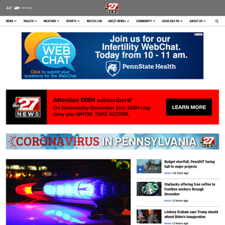 Harrisburg, Pa. News & Weather - WHTM - ABC27