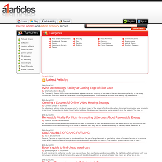 Article directory submit and find free articles on A1articles