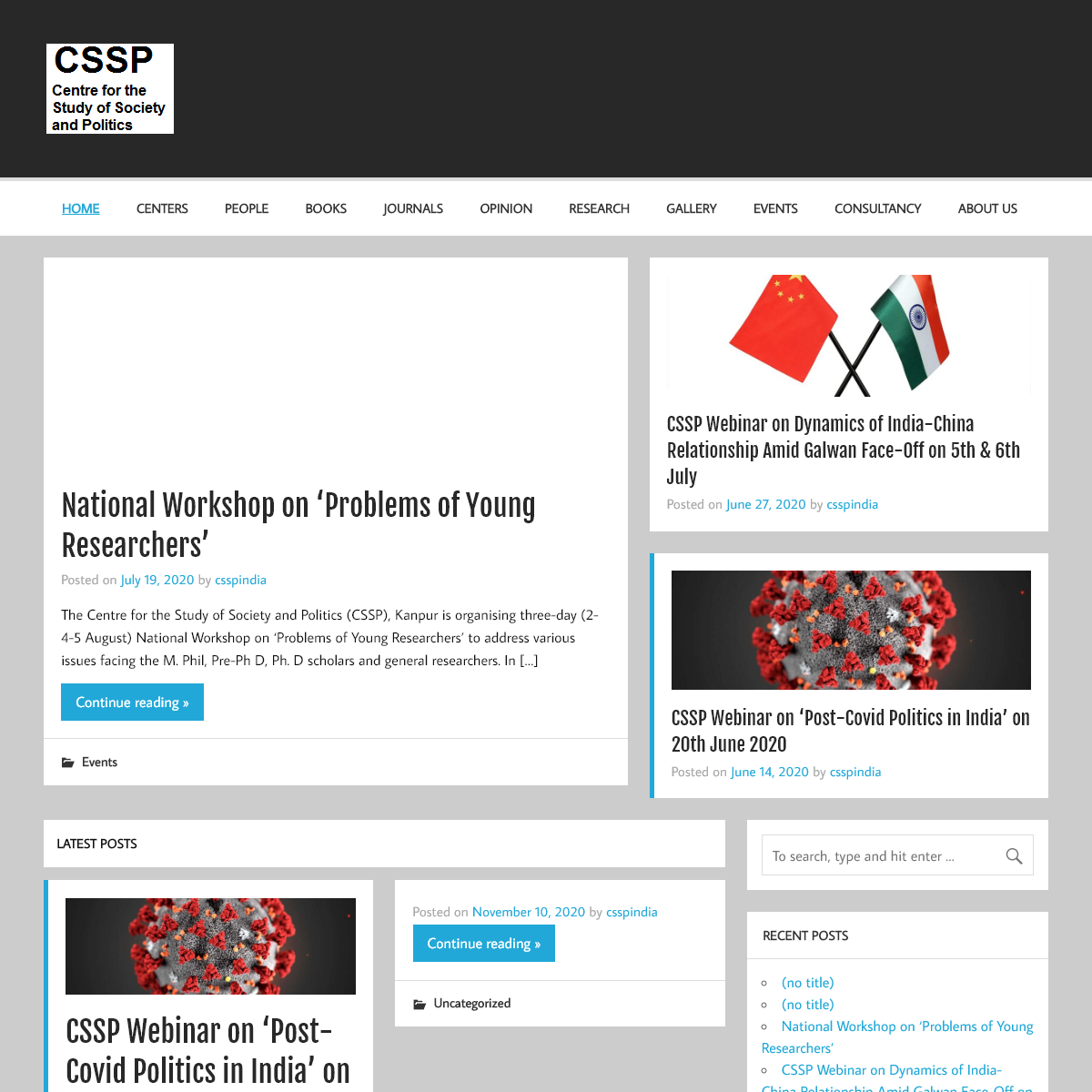 CSSP - Centre for the Study of Society and Politics