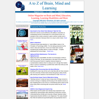 A to Z of Brain, Mind and Learning