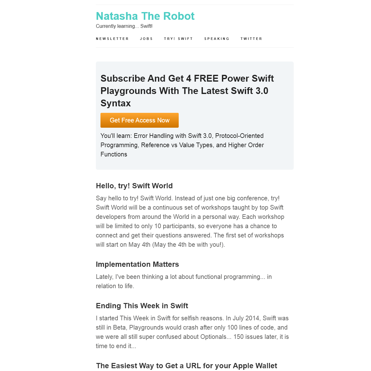 Natasha The Robot