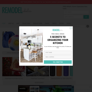 Remodelaholic - DIY tutorials, Woodworking plans and more.