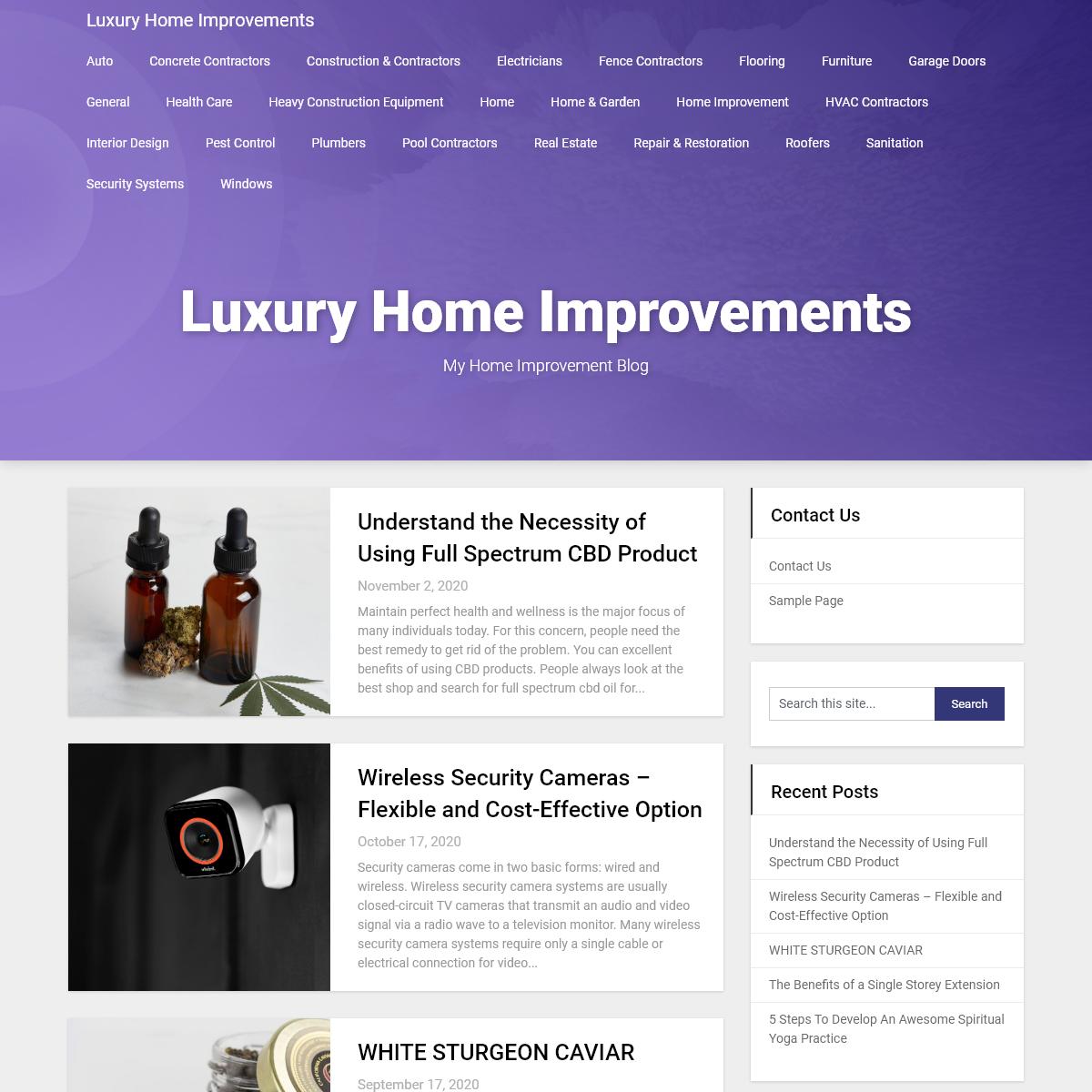 Luxury Home Improvements – My Home Improvement Blog