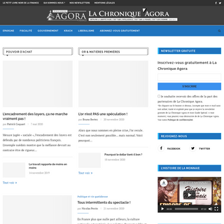 Information et actualité financière et économique décryptée au quotidien- La Chronique Agora