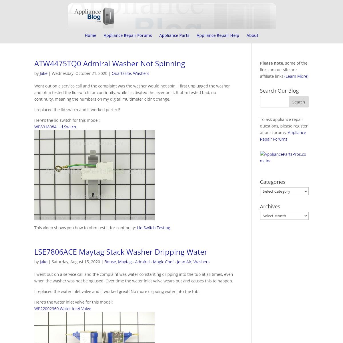 ApplianceBlog - Appliance Repair Blog Forums