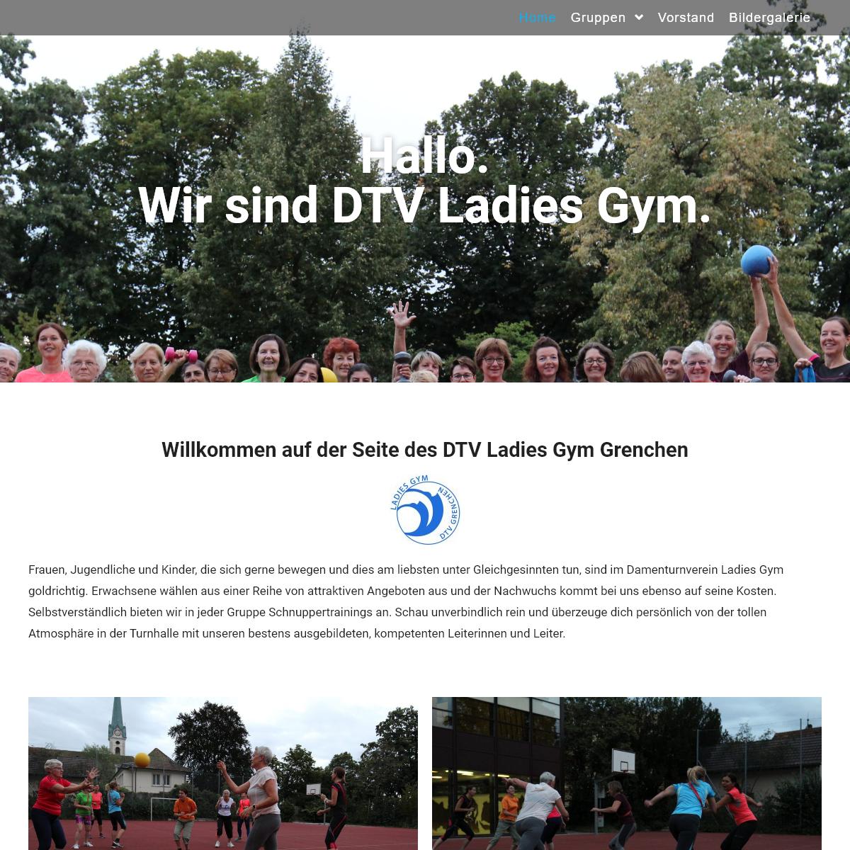 Homepage des Damenturnvereins Grenchen