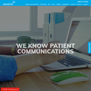Patient Engagement Software + Web Design - Sesame Communications
