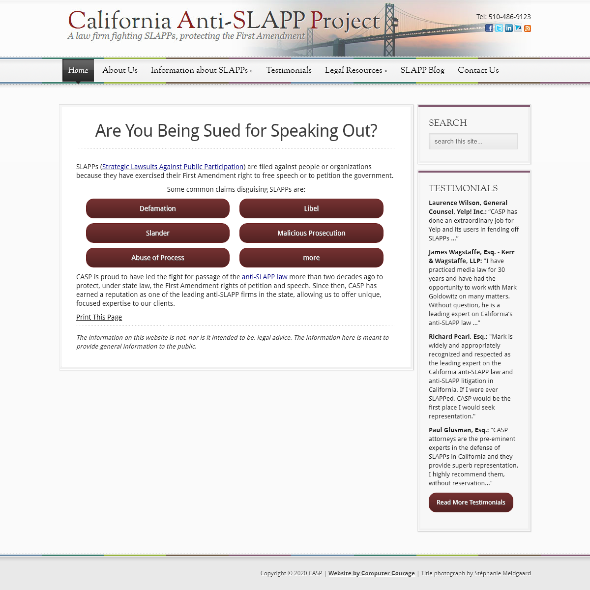 California Lawyers Fighting SLAPPs - Defamation, Malicious Prosecution, Abuse of Process Lawsuits