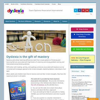 Dyslexia, the Gift. Information and Help for Dyslexia.