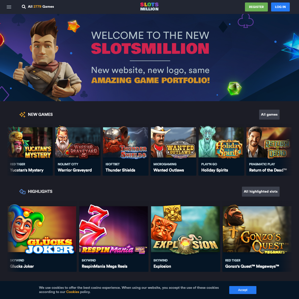 Play 2779 slots and other online casino games on SlotsMillion