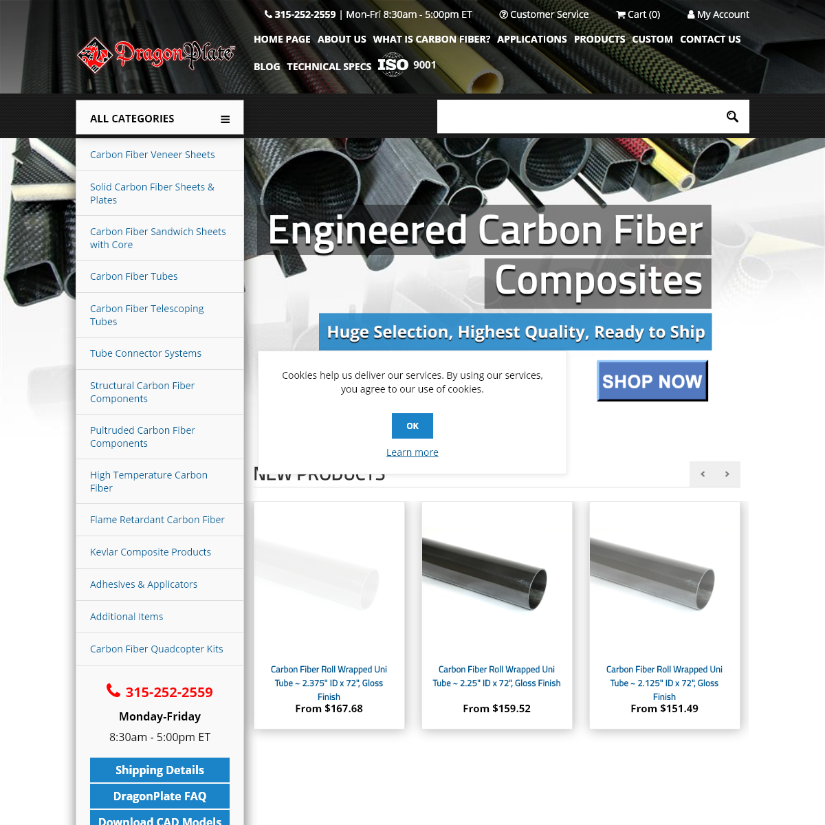 DragonPlate - Engineered Carbon Fiber Composite Sheets, Tubes and Structural Components - Made in USA