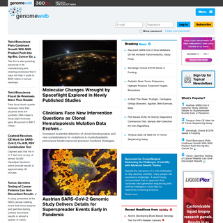 Genetics, Genomics & Molecular Diagnostics News by GenomeWeb