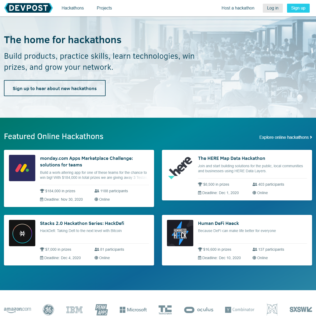 Devpost - The home for hackathons