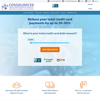 Credit Counselling & Debt Consolidation Services - Consolidated Credit Canada
