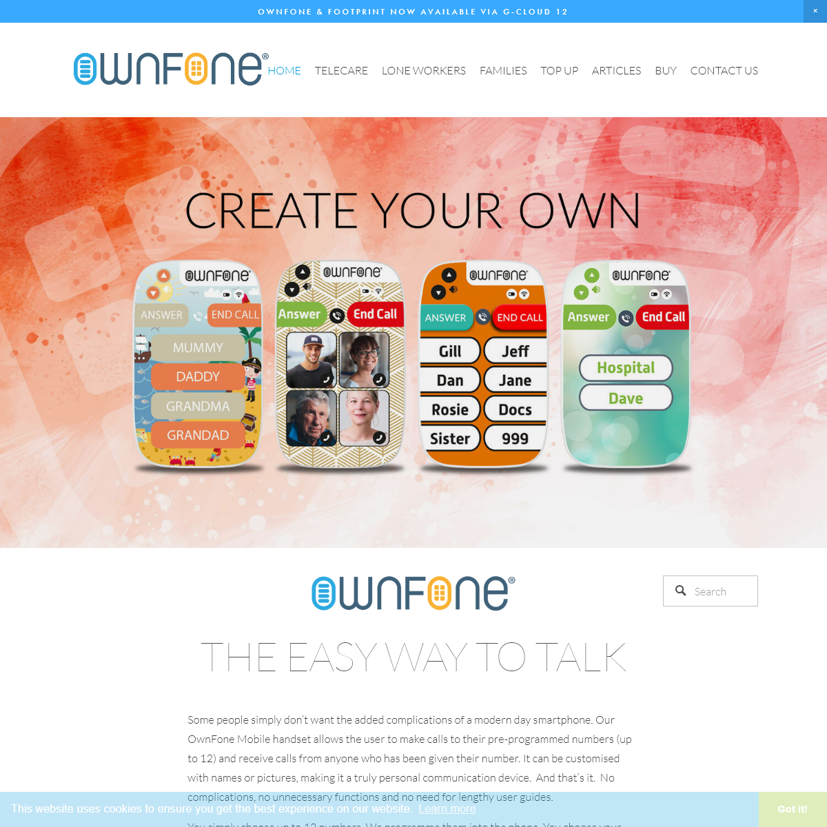 OwnFone Customisable Phones & Footprint GPS Trackers