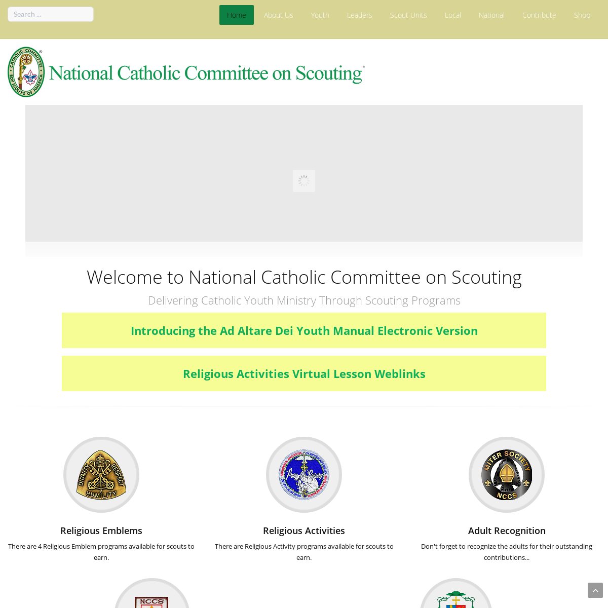 National Catholic Committee on Scouting - Home