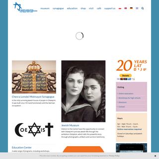 Auschwitz Jewish Center – Learn about the 400-year Jewish history of Oświęcim. Visit the synagogue in Oświęcim and the Jew