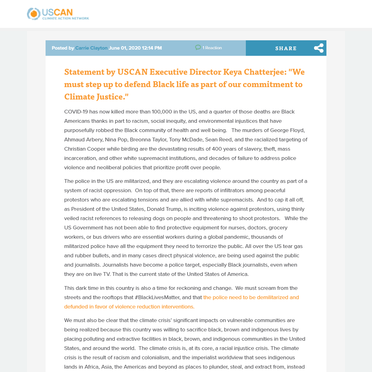 News Room - US Climate Action Network