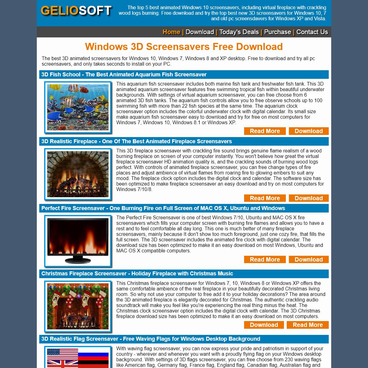 Windows Screensaver - Free 3D Fireplace Screensavers Download