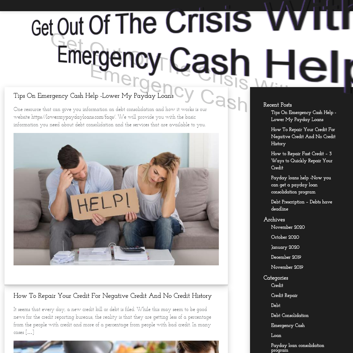 Get Out Of The Crisis With Our Emergency Cash Help