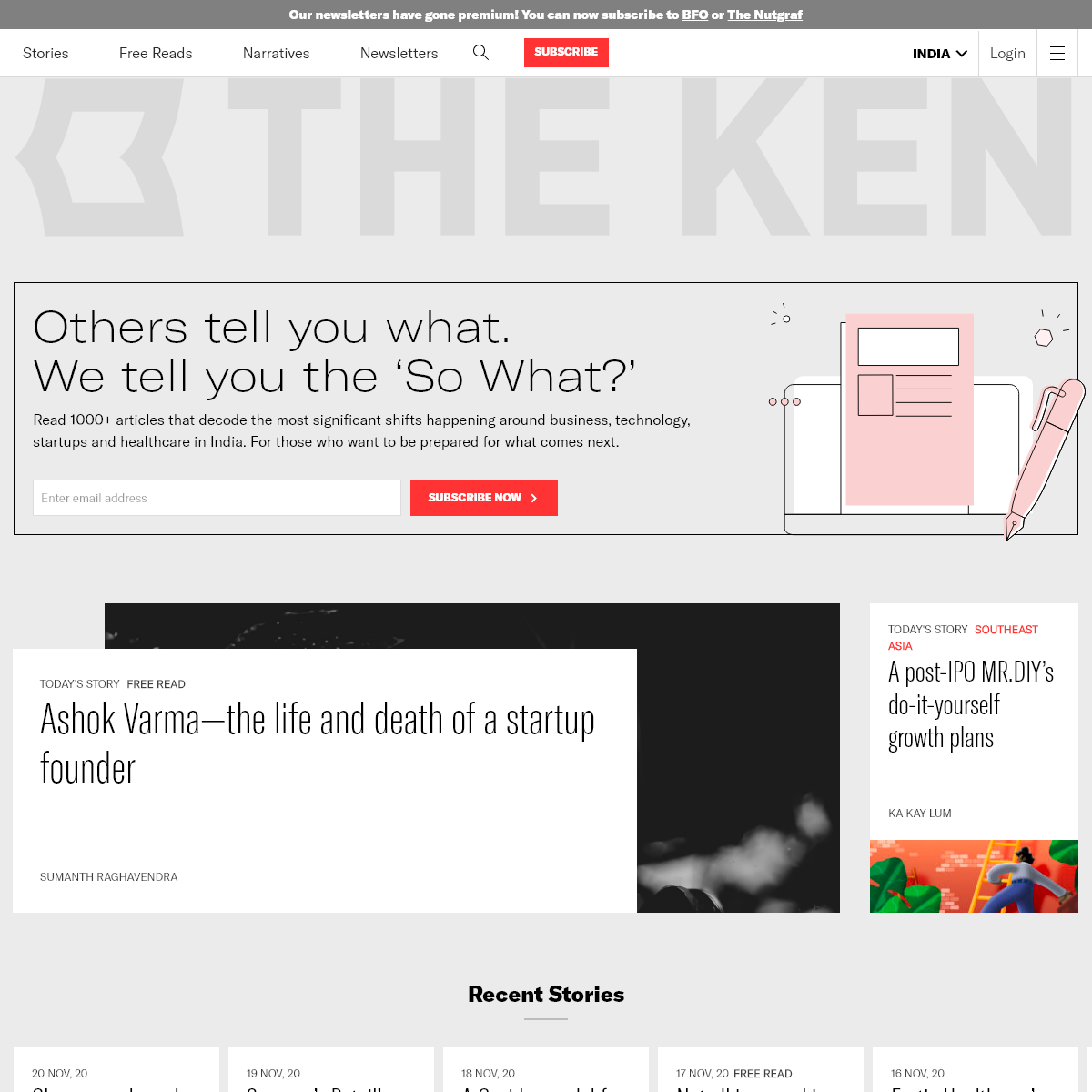 The Ken - Business, Startups, Technology and Healthcare news from India