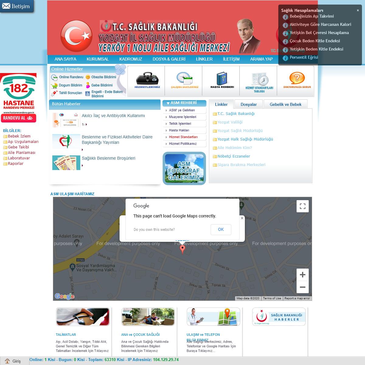 Yerköy 1 Nolu Aile Sağlığı Merkezi - YOZGAT