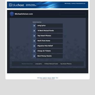 Welcome michaelsheiser.com - BlueHost.com