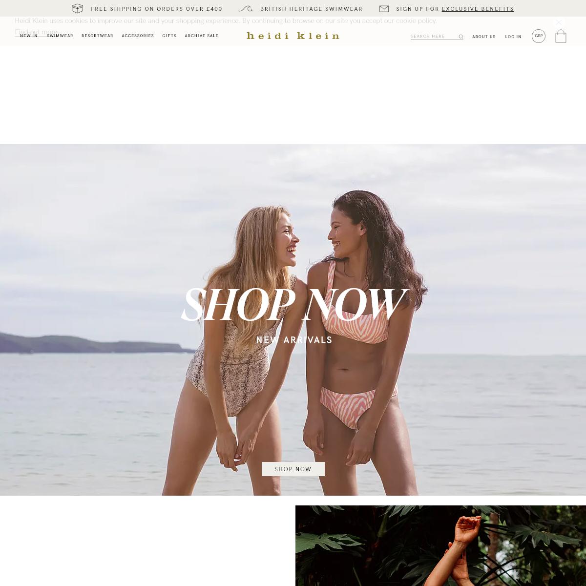 Designer Beachwear and Swimwear - Heidi Klein - Free Shipping