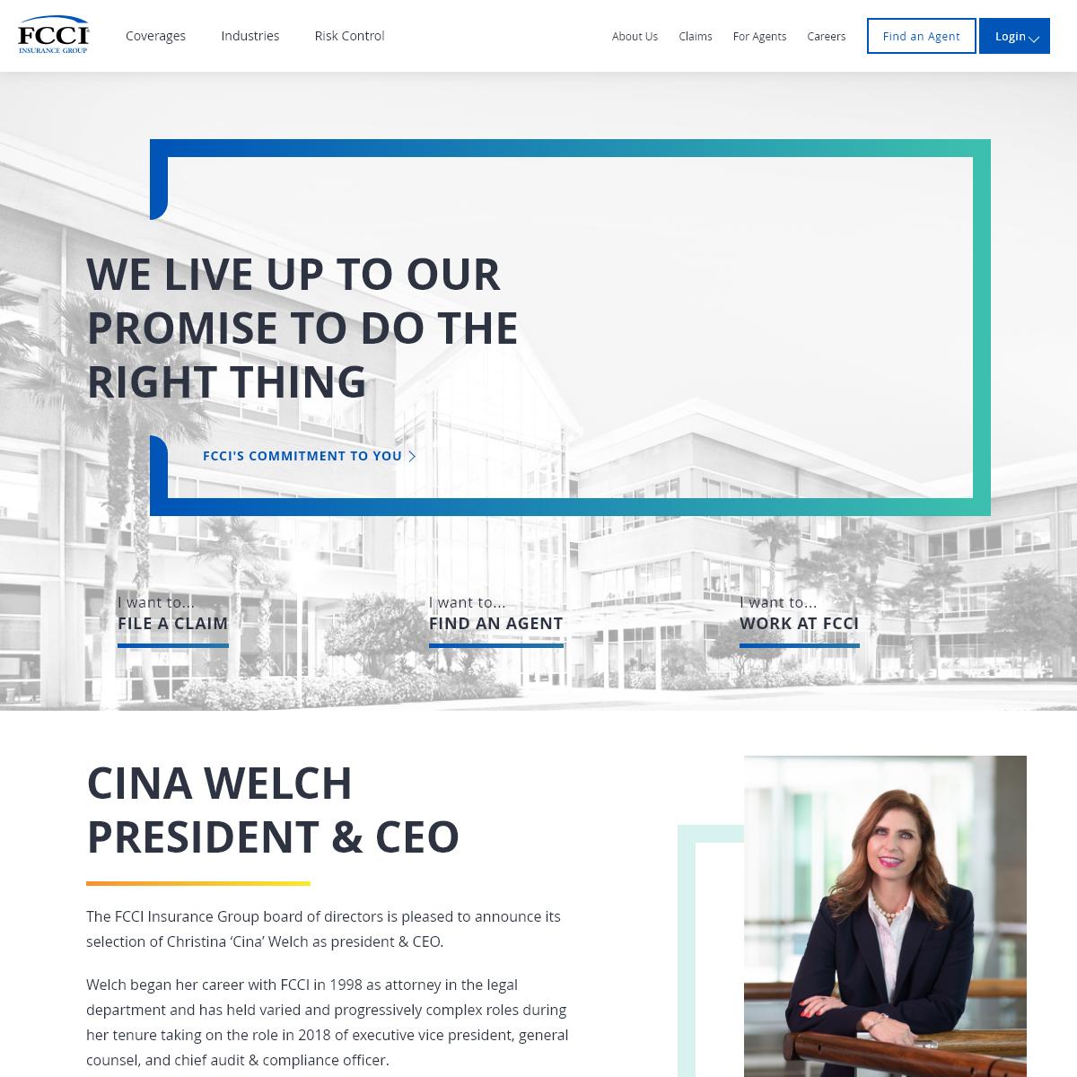 Business, Commercial Insurance - FCCI Insurance Group