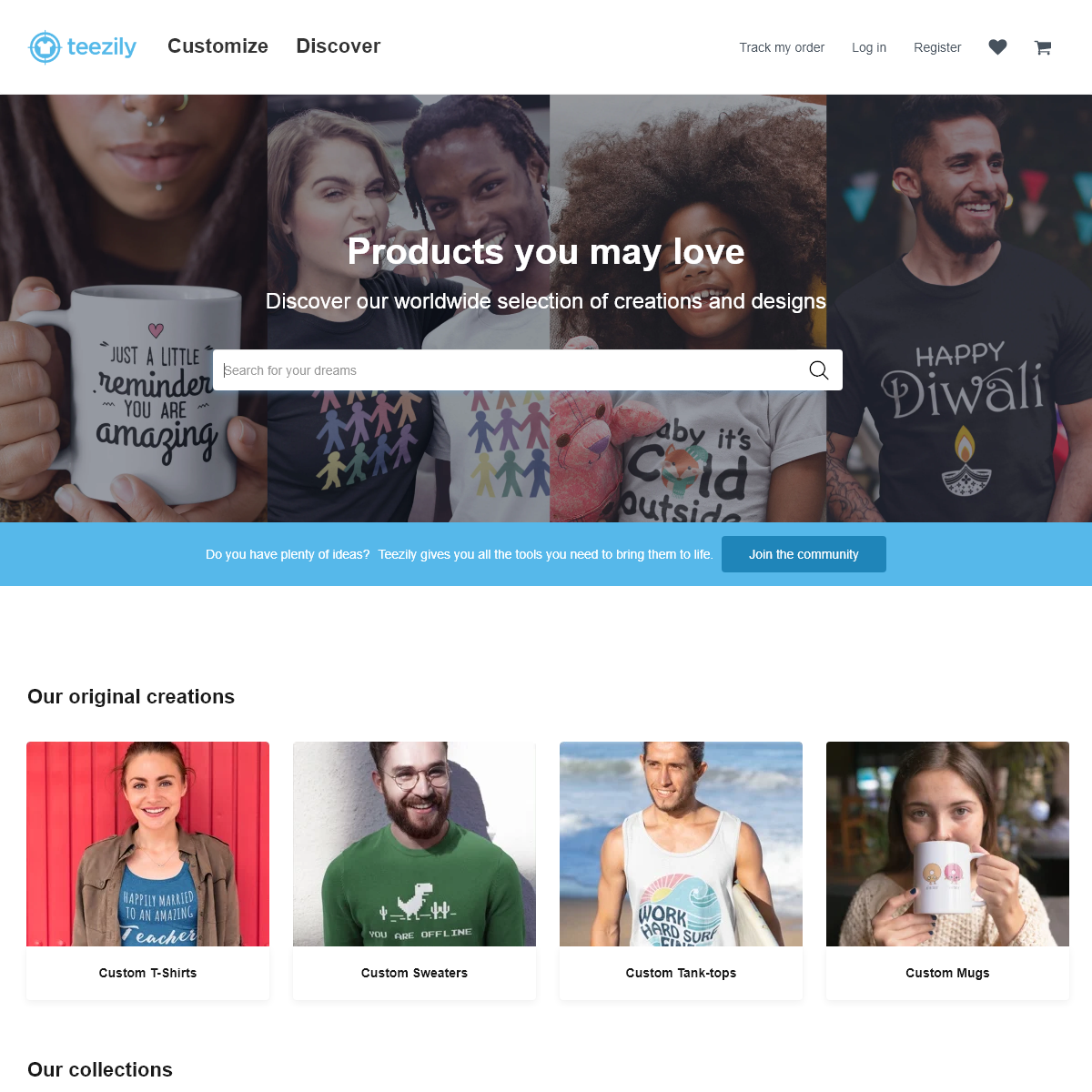 Teezily - Buy, Create & Sell T-shirts to turn your ideas into reality