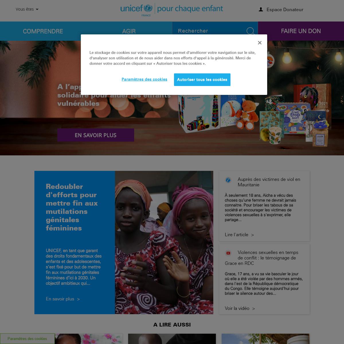 UNICEF France - Droits des enfants dans le monde