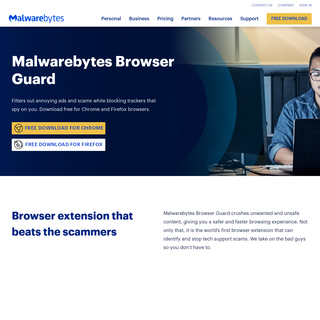 Browser Guard - Blocks ads, scams, and trackers - Malwarebytes