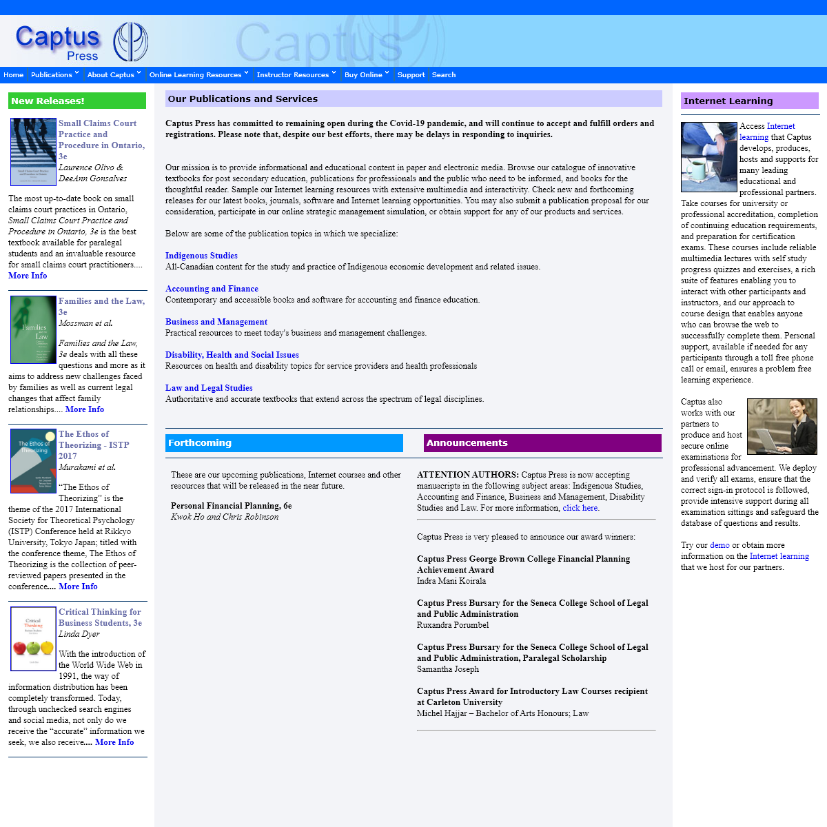 Captus Press ~ Books, Online Multimedia Courses and Software