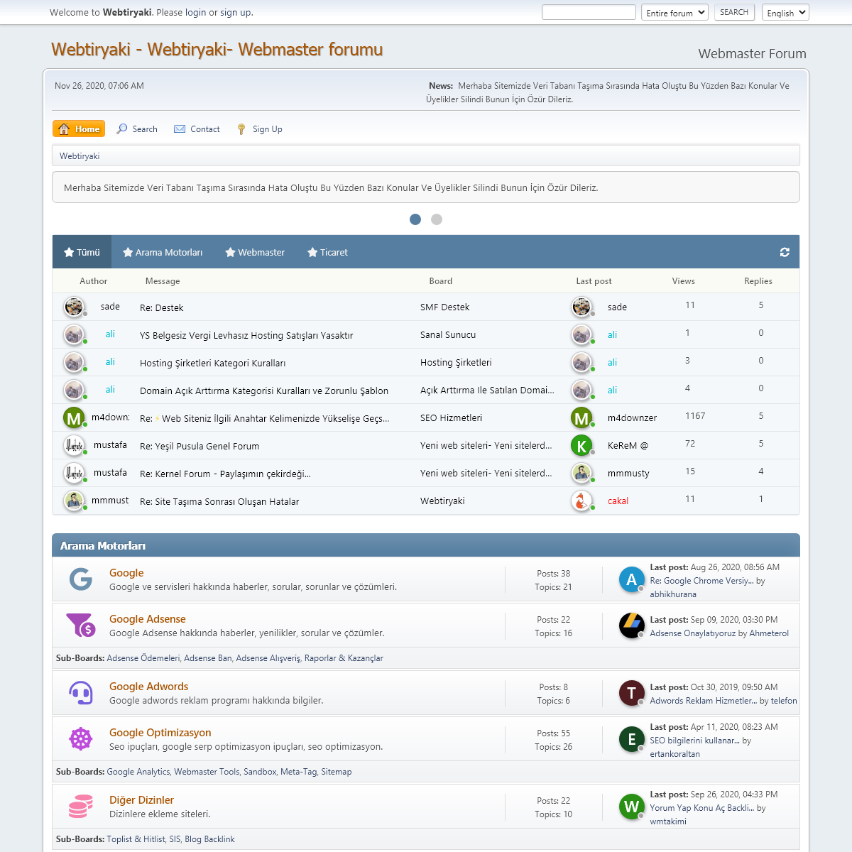 Webtiryaki- Webmaster forumu