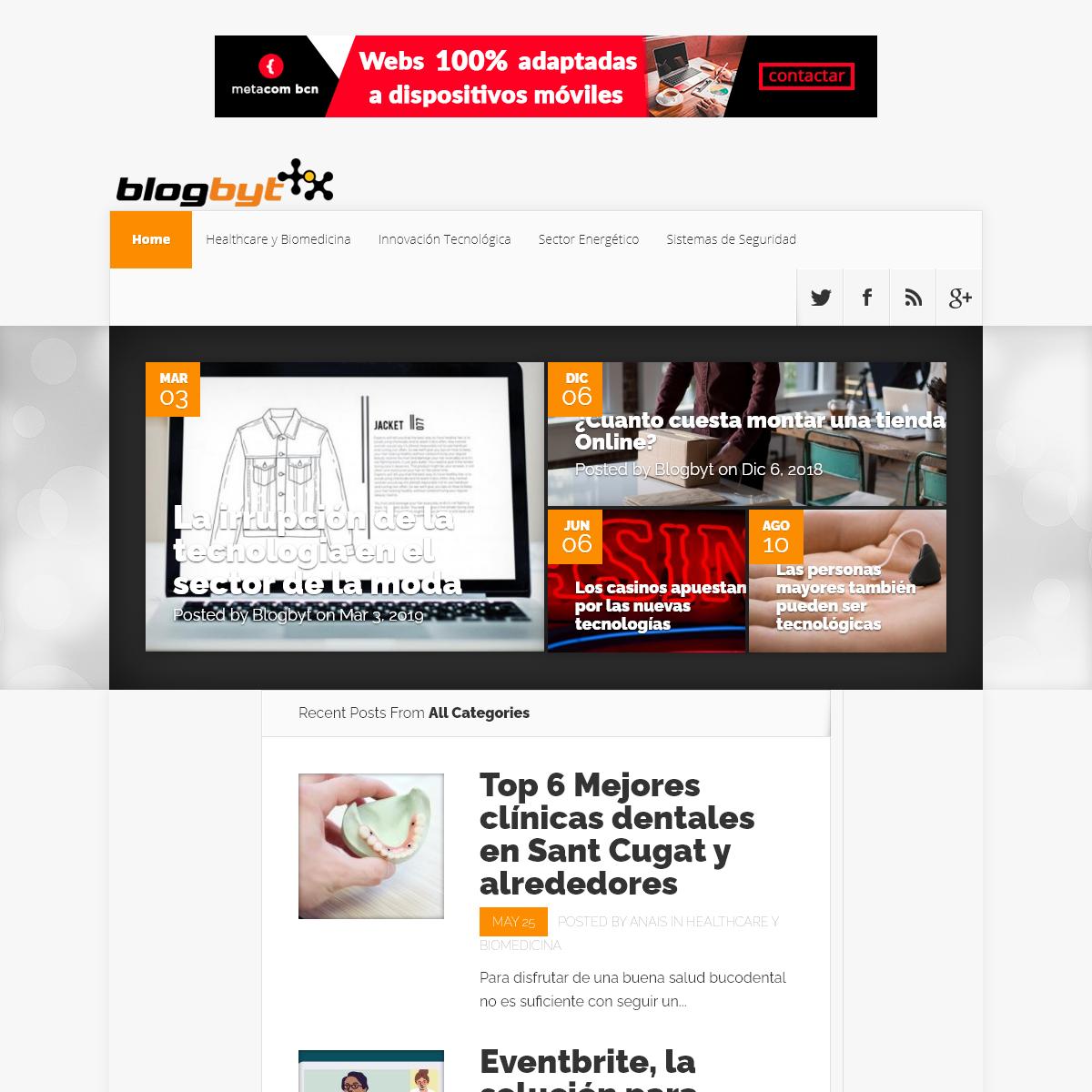 Blog de Tecnología e Internet of Things - Blogbyt.es