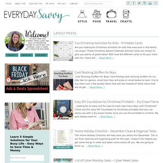 Everyday Savvy - Style, Recipes, Travel, Crafts & Household Tips